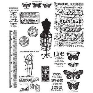 """Tim Holtz Cling Stamps 7""""X8.5""""-Attic Treasures