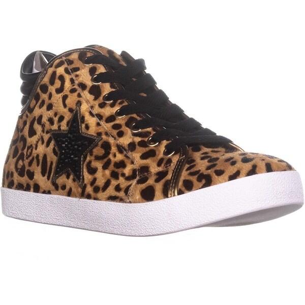 86b25bd24b8 Shop Steve Madden Savior Star Sneakers , Leopard Multi - Free ...
