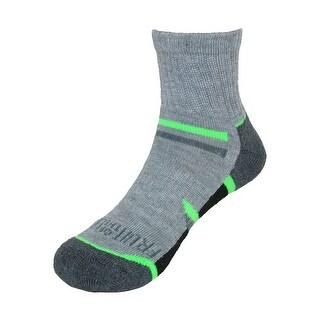 Fruit of the Loom Boy's Ankle Socks (6 Pair Pack) (Option: Grey - 9-2.5)