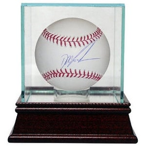 Dwight Gooden signed Official Major League Baseball w Glass Case NY YankeesMets