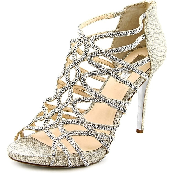 140bcd38ccf5 INC International Concepts Sharee 2 Women W Open Toe Canvas Silver Sandals