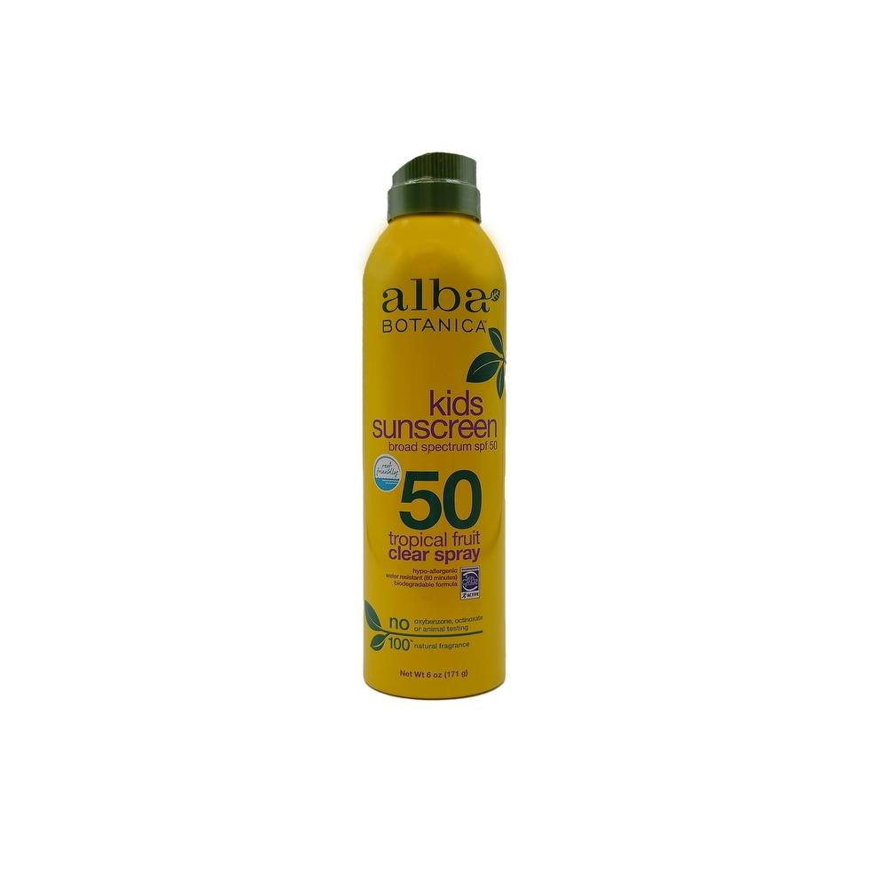 Alba Very Emollient Sunscreen SPF50 Active Kids Clear Spray 6 Ounce (Children