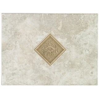 Mohawk Industries 5165 12 Inch Bianco Ceramic Tile Decorative Accent - N/A