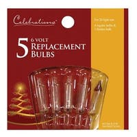 Celebrations 1155-2-71 Clear 6V Replacement Bulbs