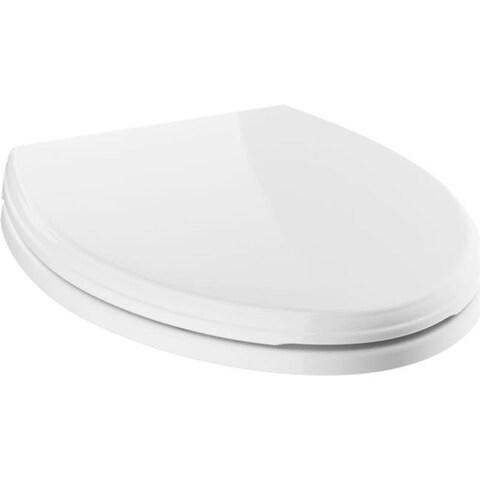 Delta 811901-WH White Elongated Slow-Close Toilet Seat