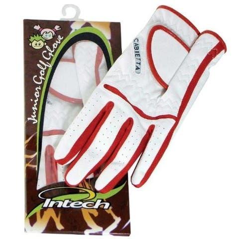 Intech Junior Golf Glove (Red/White)