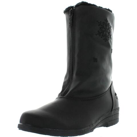 Totes Womens Staride 2 Waterproof Snow Boots - Black