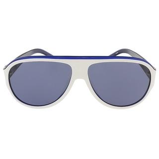 Lacoste L644S 105 White Aviator sunglasses