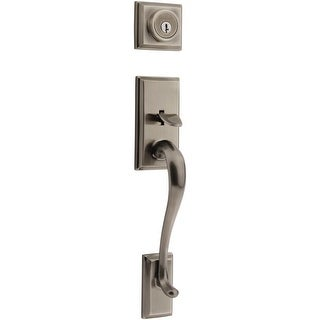 Kwikset 800HE-LIP-S  Hawthorne Single Cylinder Sectional Handleset with SmartKey, Exterior Only