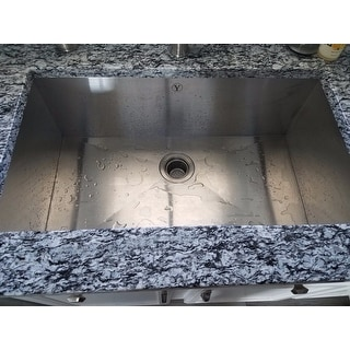 Y-Decor 'Hardy' Undermount Right Angled Sink Single Bowl Stainless Steel Kitchen Sink