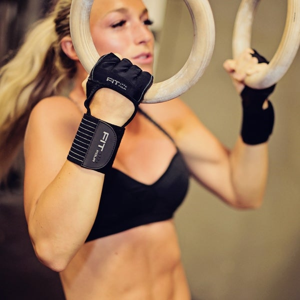 Black Fit Four The Spartan Grip Fitness Weight Lifting Gloves