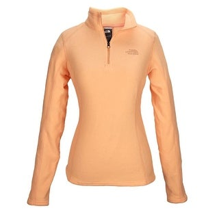 The North Face Women Glacier 1/4 Zip Fleece Peach/Peach