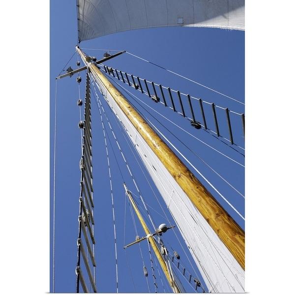 """Sailboat mast and rigging"" Poster Print"