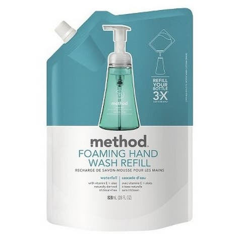 Method 01366 Foaming Hand Wash Refill, Waterfall Scent, 28 Oz.