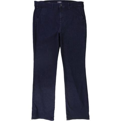 NYDJ Womens Marilyn Straight Trouser Fit Jeans, Blue, 16