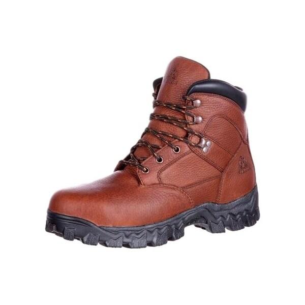 Rocky Work Boots Mens Alpha Force Steel Toe Waterproof Brown