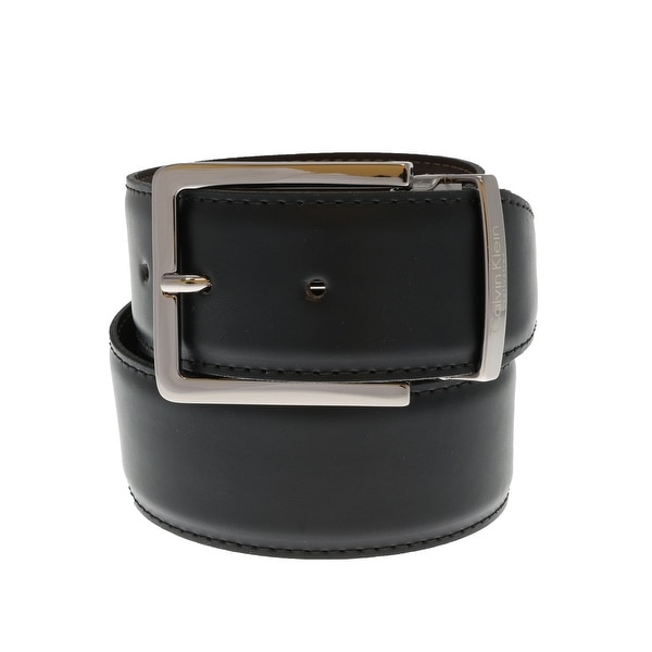 Calvin Klein Reversible NERO MORO Black/Brown 1.50W Mens Belt - eu=110/125-us=42-