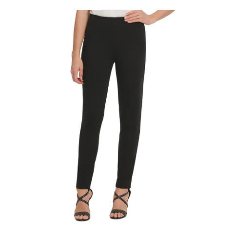 DKNY Womens Black Solid Flare Pants Size 10