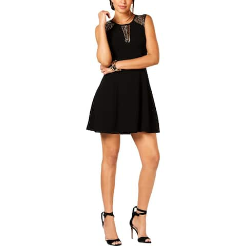 Guess Womens Scuba Dress Embellished Sleeveless - 8