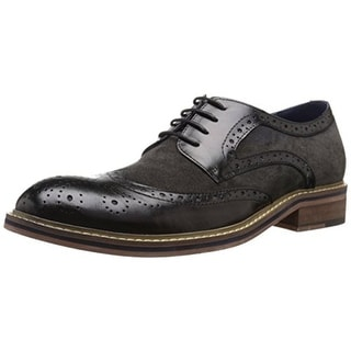 Zanzara Mens Adams Leather Brogue Derby Shoes - 9.5 medium (d)