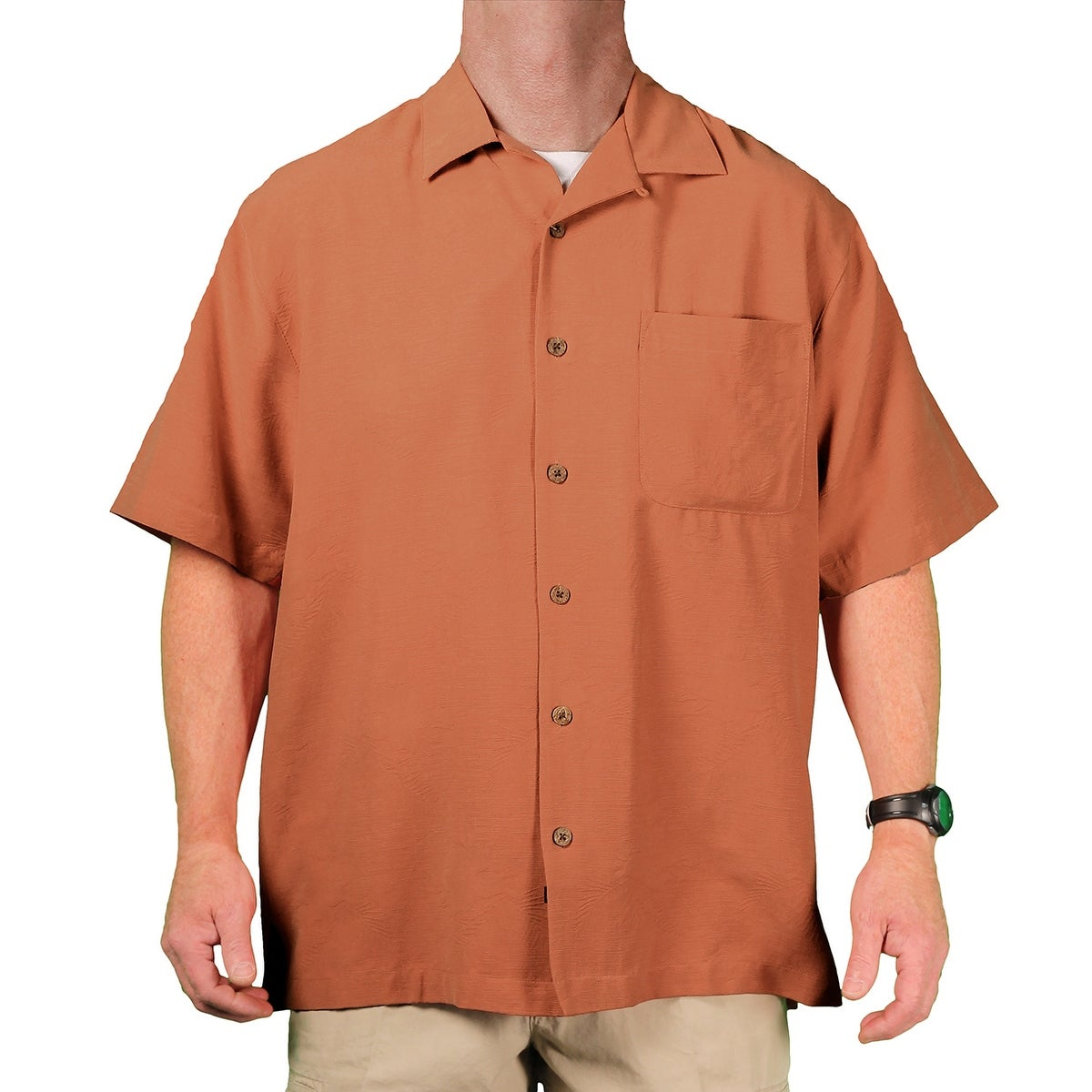 Eagle Dry Goods Mens Washable Silk Camp Shirt