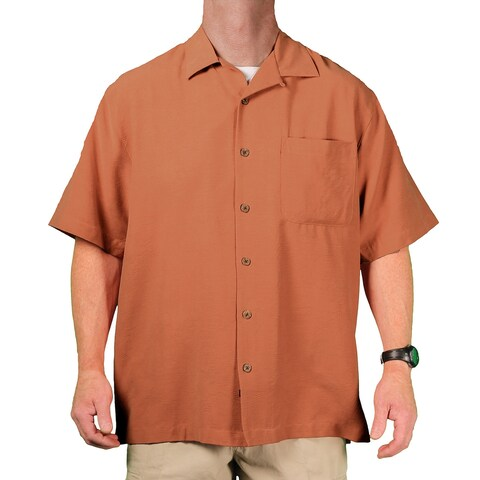 Eagle Dry Goods Men's Washable Silk Short-Sleeve Camp Shirt