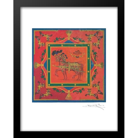 "Fairchild Paris - HERMES HORSE SCARF DESIGN - Framed Wall Art - 14"" x 18"""