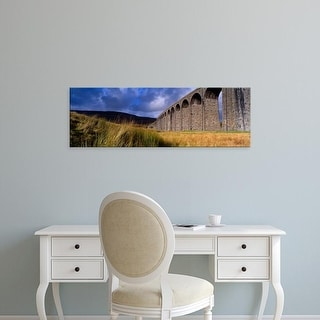 Easy Art Prints Panoramic Images's 'A Viaduct, Ribblehead Viaduct, North Yorkshire, England, United Kingdom' Canvas Art
