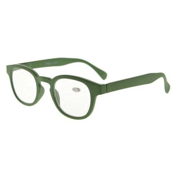 Eyekepper Stain Rainbow Reading Glasses (Dark Green, +0.75)