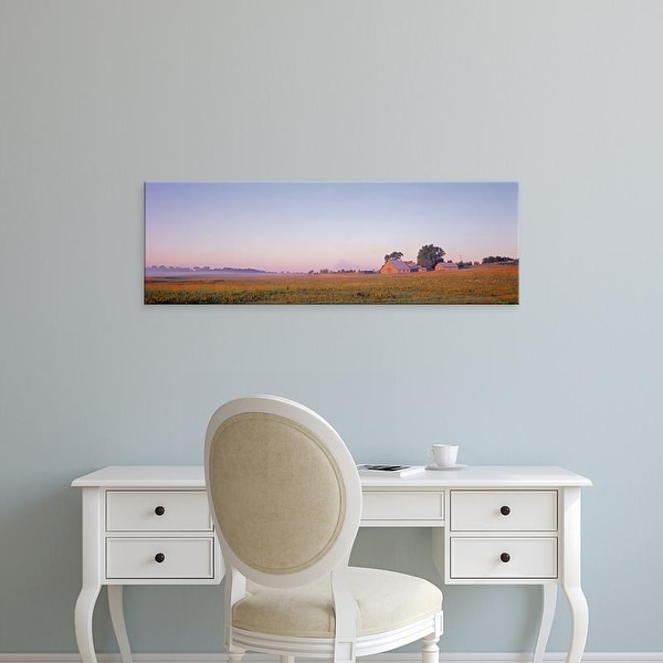 Easy Art Prints Panoramic Images's 'Barns in a filed, Ogle County, Illinois, USA' Premium Canvas Art