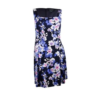 Lauren Ralph Lauren Women's Floral Pocket Pleated Dress