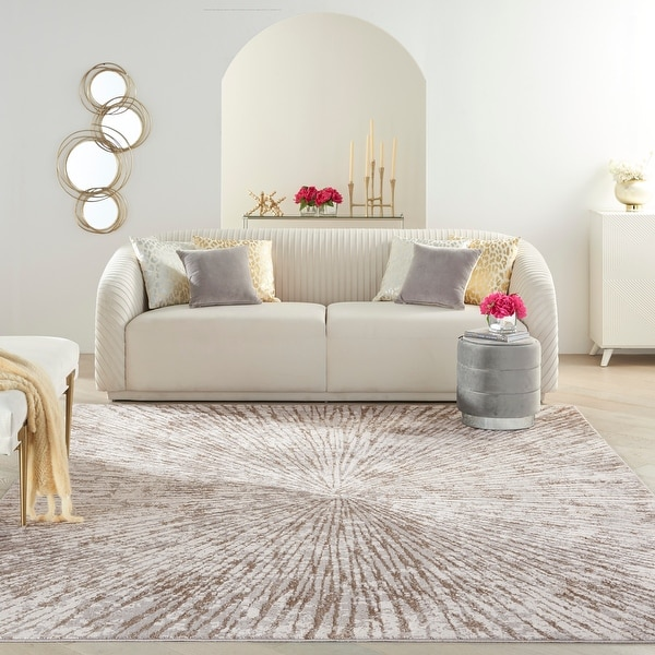 Inspire Me Home Decor Metallic Contemporary Abstract Area Rug. Opens flyout.