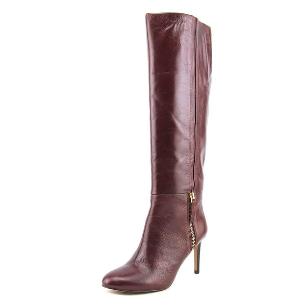 f0ecce936e5 Shop Nine West Vintage Women Round Toe Leather Red Knee High Boot ...
