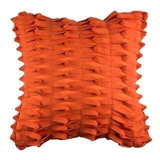 100% Handmade Imported Notice Me ! Pillow Cover, Dark Orange