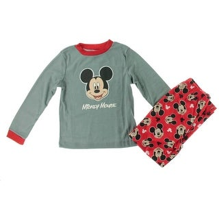 Disney Boys Mickey Mouse Polyester Two-Piece Pajamas - M