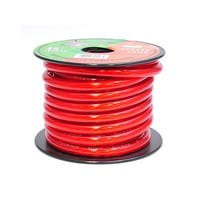4 Gauge Clear Red Power Wire 25 ft. OFC