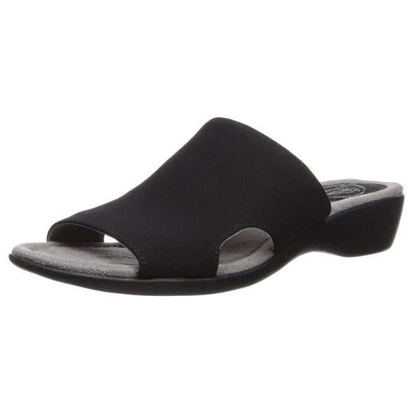 LifeStride Women's Triumph Flat Sandal, Dark Blue, Size 6.0