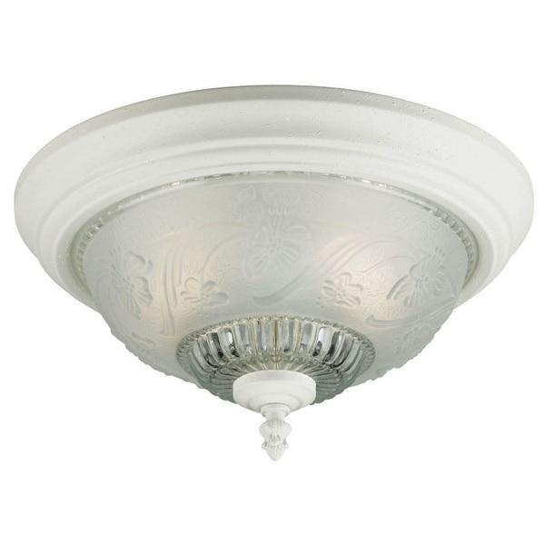 "Westinghouse 66162 Two Light Interior Flush Mount Ceiling Fixture, 13-1/4"" x 7"""