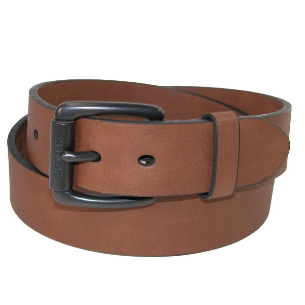 Levis Men's Cut Edge Bridle Belt with Roller Buckle