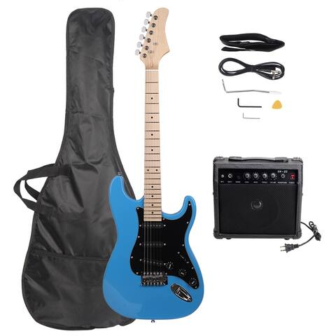 "39 x 12.x 2"" ST Stylish Electric Guitar with Black Pickguard 7 Colors"