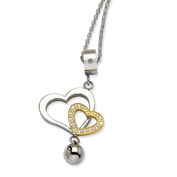 Chisel Stainless Steel Heart Pendant (2 mm) - 22 in