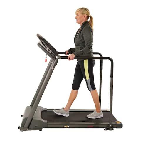 Sunny Health & Fitness Walking Treadmill with Handrail