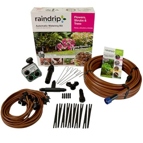 Raindrip SDFSTH1P Flower/Shrub/Tree Automatic Watering Kit with Timer