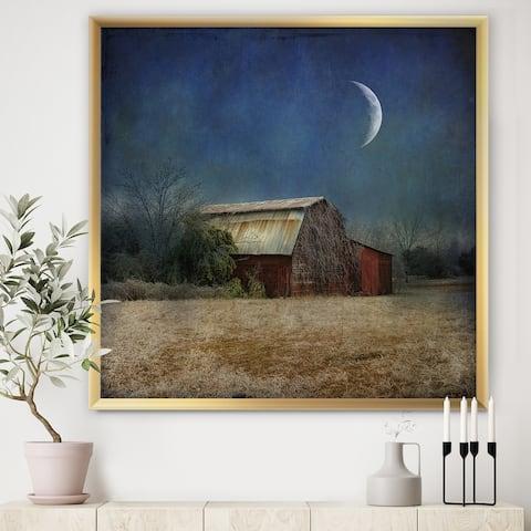 Designart 'In the Land of Cotton' Farmhouse Framed Art Print