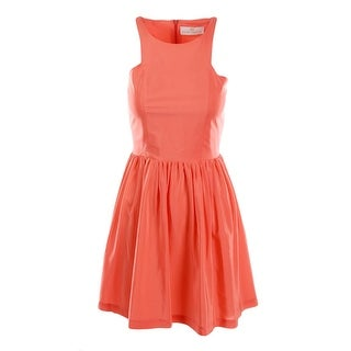 Amanda Uprichard Womens Silk Smocked Party Dress - L