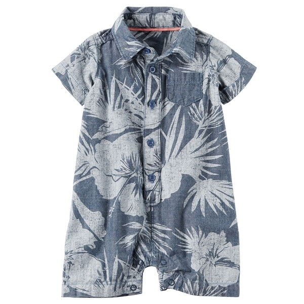 ce01b8c89688 Shop Carter s Baby Boys  Chambray Floral Romper