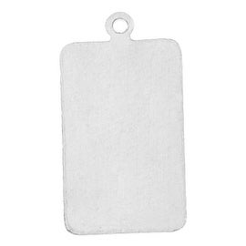Sterling Silver Stamping Blank, Rectangle With Loop 21x11mm, 1 Piece, Silver