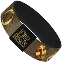 The Lord Of The Rings One Ring Middle Earth Map Tans Golds Elastic Bracelet