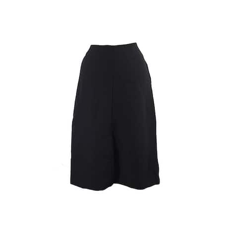 Alfani Black Front-Slit A-Line Skirt 4