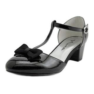 Nina India Youth Round Toe Synthetic Black Heels
